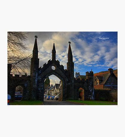 Taymouth Castle Gate Photographic Print
