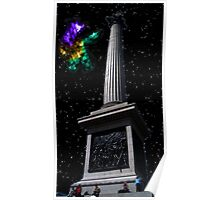 A Nebula At Nelsons Column Poster