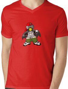 Hip Hop Tux Mens V-Neck T-Shirt