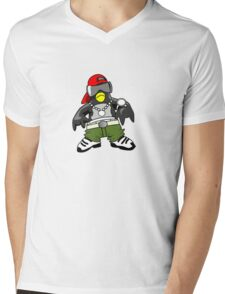 Hip Hop Tux Mens V-Neck T-Shirt