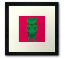 Tiki - Green Framed Print