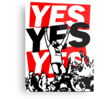 The Yes Movement [White] Metal Print