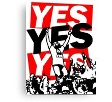 The Yes Movement [White] Canvas Print
