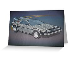 Back to the Future Typography Art Greeting Card