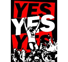 Yes Movement! - Black Photographic Print