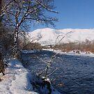 Snowy Naches River by tkrosevear