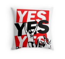 The Yes Movement [White] Throw Pillow