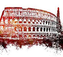 Rome, Colosseum skyline by JBJart