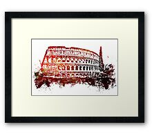 Rome, Colosseum skyline Framed Print