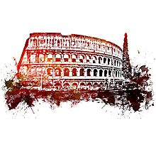 Rome, Colosseum skyline Photographic Print