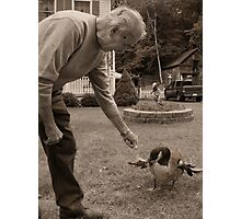 Bucky and His Pet Canadian Goose Photographic Print