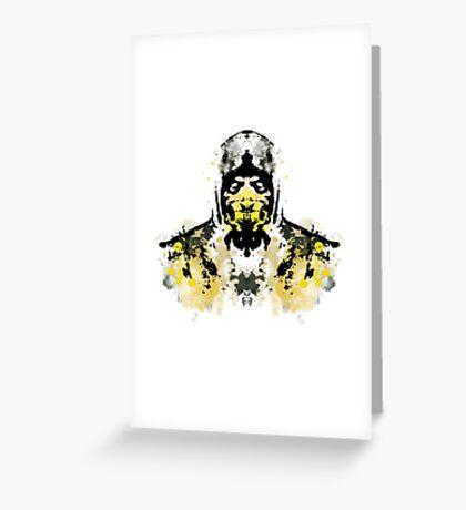 Rorschach Scorpion (MKX Version) Greeting Card
