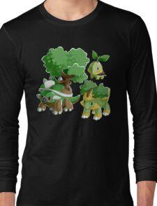 Sinnoh Project - Grass Starter Trio Long Sleeve T-Shirt