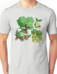 Sinnoh Project - Grass Starter Trio Unisex T-Shirt