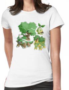 Sinnoh Project - Grass Starter Trio Womens Fitted T-Shirt