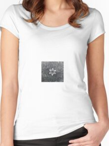 Snowflake#2 Women's Fitted Scoop T-Shirt