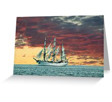 Quiet Evening at Sea Greeting Card