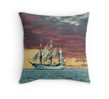 Quiet Evening at Sea Throw Pillow
