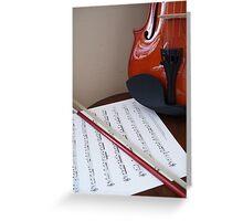 Violin lesson Greeting Card