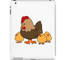 Cartoon Hen and Chicks iPad Case/Skin