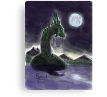 dragon's moon rising Canvas Print