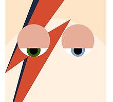 Ziggy Stardust (David Bowie) Flat Print by chrissix
