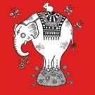 White Elephant T-Shirt by Anita Inverarity