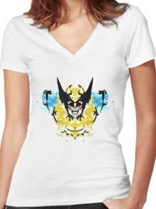Rorschach Wolverine Women's Fitted V-Neck T-Shirt