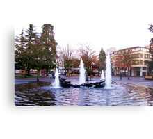 Downtown Eugene at 8th and Oak St. Metal Print