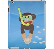 Sock Monkey Snorkeling iPad Case/Skin