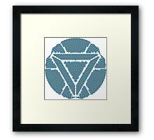 Celtic Ironman Arc Reactor Mk2 Black with Blue fill Framed Print