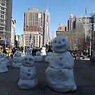 Snow Sculpture, Madison Square Park, New York City by lenspiro