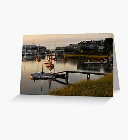 Wychmere Harbor Sunrise Greeting Card