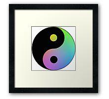 Rainbow Yin Yang Framed Print