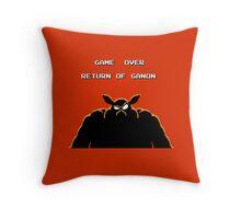 Legend of Zelda- Game Over Return of Ganon Pixel Throw Pillow