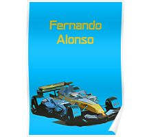 Fernando Alonso 2006 Renault R26 Poster