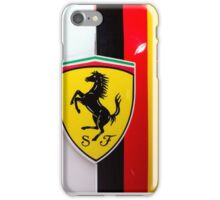 Sebastian Vettel Ferrari Shield and German flag iPhone Case/Skin