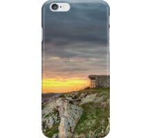 WWII Bunker at Sunset, France iPhone Case/Skin