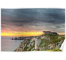 WWII Bunker at Sunset, France Poster
