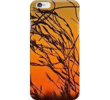 Sunset through the bushes iPhone Case/Skin