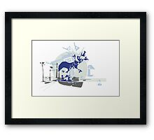 I Have Been Out Walking Framed Print