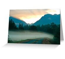 Fog Across the Road Greeting Card