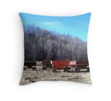 Grain Wagons Throw Pillow