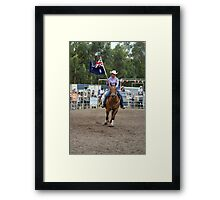 Picton Rodeo 1 Aust Flag Framed Print