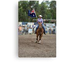 Picton Rodeo 1 Aust Flag Canvas Print