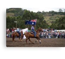 Picton Rodeo 2 Aust Flag Canvas Print