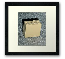 The Faded Lego Brick Framed Print