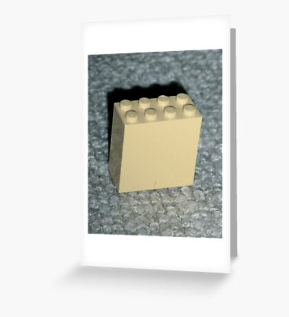 The Faded Lego Brick Greeting Card
