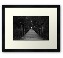 Dont judge my path if you haven't walked my journey. Framed Print