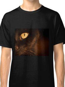 Portrait black cat Classic T-Shirt